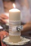 Huwelijkenkaars Royalty-vrije Stock Foto's