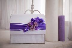 Huwelijks blauw decor Stock Foto