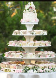 Huwelijks cupcake cake Royalty-vrije Stock Fotografie