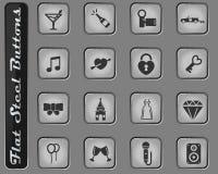 Huwelijks eenvoudig pictogrammen royalty-vrije illustratie