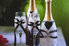 Huwelijks fonkelende champagne stock foto