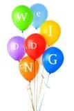 Huwelijks glanzende ballons Stock Afbeelding