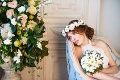 Huwelijks mooie bruid Stock Afbeelding
