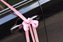huwelijks roze lint Stock Afbeelding