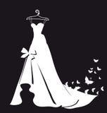 Huwelijks witte kleding, bruid Stock Foto