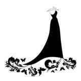Huwelijks witte kleding, bruid Royalty-vrije Stock Foto