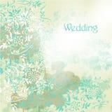 Huwelijksachtergrond met bloemenwervelingen in grunge uitstekende stijl Royalty-vrije Stock Foto