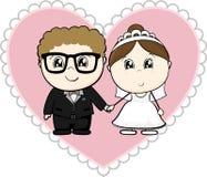 Huwelijksbeeldverhaal stock illustratie