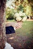 Huwelijksboeket stock afbeeldingen