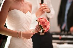 Huwelijksboeket bij een huwelijk royalty-vrije stock foto's