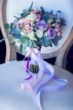 Huwelijksboeket, bloemen, rozen, mooi boeket Stock Afbeeldingen