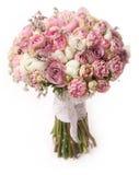 Huwelijksboeket met roze struik Stock Foto