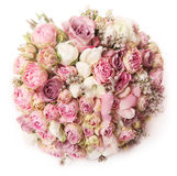 Huwelijksboeket met roze struik Stock Afbeeldingen