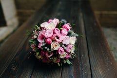 Huwelijksboeket met rozen Stock Fotografie
