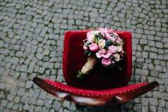 Huwelijksboeket met rozen Stock Foto