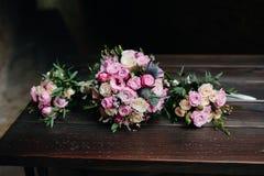 Huwelijksboeket met rozen Royalty-vrije Stock Afbeelding