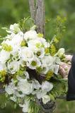Huwelijksboeket met witte roses.GN Royalty-vrije Stock Foto
