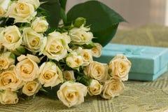 Huwelijksboeket van beige rozen Royalty-vrije Stock Fotografie