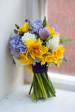 Huwelijksboeket van de lentebloemen Stock Fotografie