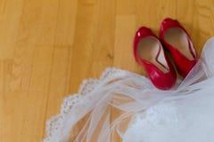 Huwelijksbruidssluier Stock Foto's