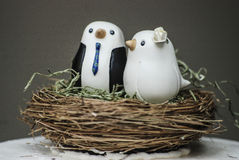 Huwelijkscake topper Stock Foto's