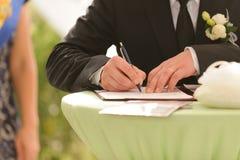 Huwelijksceremonie Stock Foto