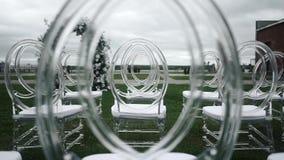 Huwelijksceremonie binnen stock footage