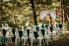 Huwelijksceremonie in het hout Stock Afbeelding