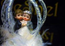 Huwelijkscijfers van de bruid en de bruidegom royalty-vrije stock fotografie