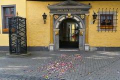 Huwelijksdag in de Stad van Erfurt, Thuringia stock foto