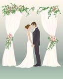 Huwelijksdag het houden van harten Royalty-vrije Stock Afbeeldingen