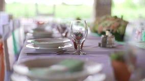Huwelijksdecor, suikergoedbar, decoratie, details stock videobeelden