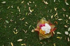 Huwelijksdecor van de bloemen Stock Foto