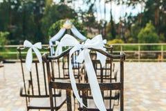 Huwelijksdecoratie op de ceremonie Royalty-vrije Stock Afbeeldingen