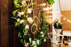 Huwelijksdecoratie, vakantiedecoratie royalty-vrije stock afbeelding