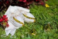 Huwelijksdrinkbekers Royalty-vrije Stock Foto's