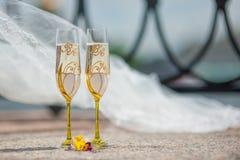 Huwelijksdrinkbekers Royalty-vrije Stock Fotografie