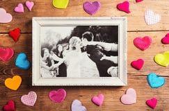 Huwelijksfoto's stock afbeeldingen