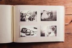 Huwelijksfoto's royalty-vrije stock afbeelding
