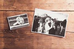 Huwelijksfoto's stock foto