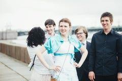 Huwelijksgeluk Stock Foto