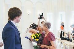 Huwelijksgelukwensen Stock Afbeelding