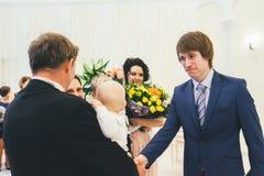 Huwelijksgelukwensen Stock Afbeeldingen
