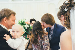 Huwelijksgelukwensen Stock Foto's