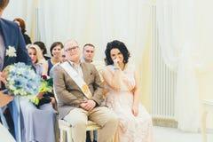 Huwelijksgelukwensen Stock Foto