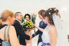 Huwelijksgelukwensen Royalty-vrije Stock Foto's