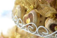 Huwelijksgunsten gevormd hart met gradiëntfilter Stock Fotografie