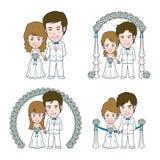 Huwelijksillustratie stock illustratie