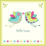 Huwelijkskaart Royalty-vrije Stock Foto's