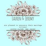 Huwelijkskaart Royalty-vrije Stock Afbeeldingen